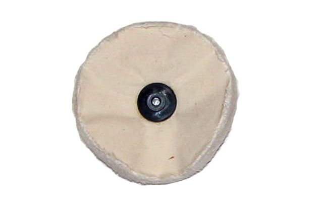 """5/"""" x 60 ply Leather center White loose unstitched cotton polishing buffing wheel"""