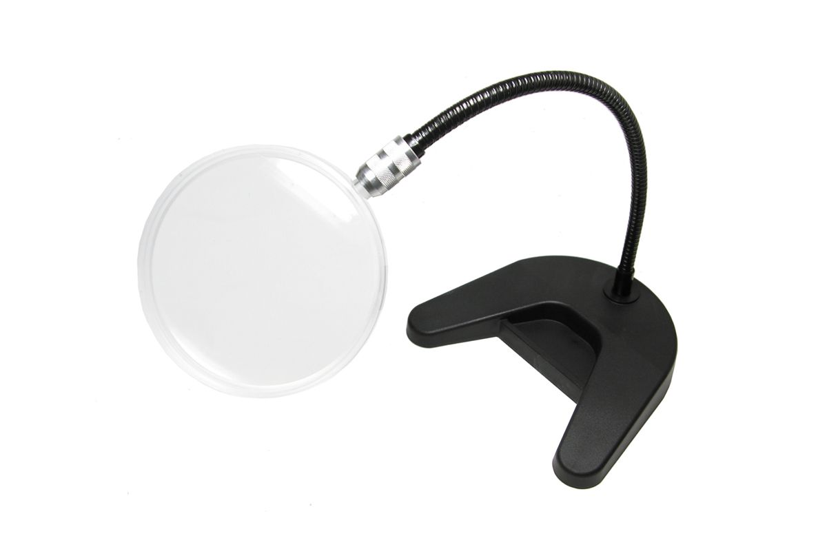 magnifying glass on stand 2x magnifying glass 4 diameter qte north. Black Bedroom Furniture Sets. Home Design Ideas